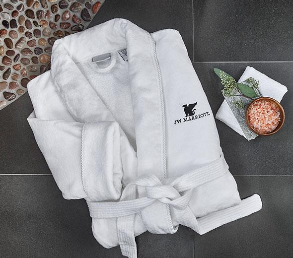 e41afa0c17 Buy Luxury Hotel Bedding from JW Marriott Hotels - Velour Bathrobe